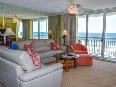 Photo for SHORT STAYS .  (3 NIGHT MINIMUM).  Beautiful View ...2 Bedroom 2 Bath Oceanfront Condo. Indoor/Outdoor Pool, Kiddie pool, Lazy River, Fitness room and a Jacuzzi
