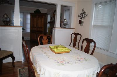 Dining room is between living room and kitchen