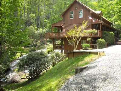 Photo for CASHIERS/LAKE GLENVILLE AREA North Carolina Mountains Waterfall Vacation Home