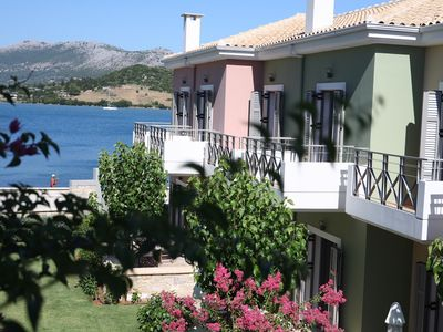 Photo for Thalassa Mare Seafront Lefkada Luxury Villas, Steps from the sea, Stunning view