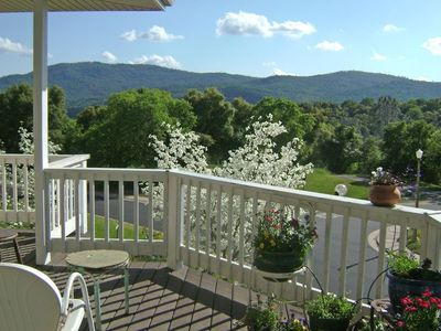 Beautiful view of the foothills from covered porch.