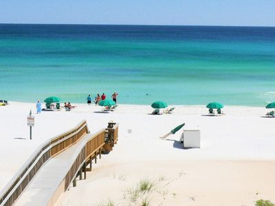 Balcony View - Directly facing the Gulf of Mexico, enjoy the emerald-turquoise hues that make the view absolutely breathtaking!