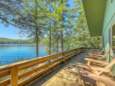 Photo for NEW LISTING! Dog-friendly, lakefront house w/sandy beach, dock, private location