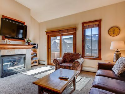 Photo for Great condo close to base of Peak 9 and town - shared pool and hot tub!