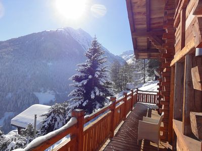 Photo for Gorgeous chalet in Grimentz with sauna and breath-taking views
