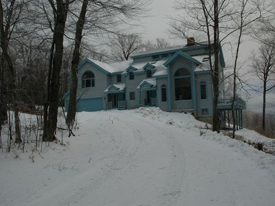Front View of Home in winter
