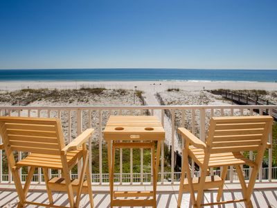 Photo for BEACHSIDE with fabulous GULF FRONT VIEW! Tropic Isles 203. Walk to restaurants!