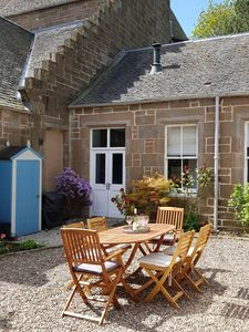 Cottage and enclosed Courtyard