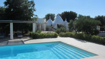 Photo for Beautiful Trullo with Salt Water Pool nestled in its own Olive Grove and Gardens