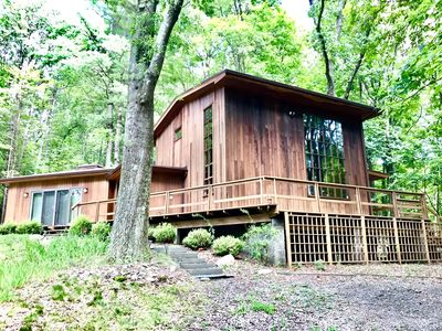 Photo for Midcentury Modern Cabin Home in the Woods- Under 2 Hrs From Nyc!