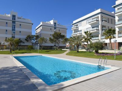 Photo for Beautiful apartment with spacious terrace, sea view and within walking distance of facilities