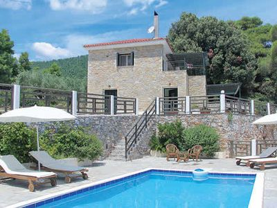 Photo for Tranquil villa ideal for nature lovers w/ thick stone walls, sea views, pool + terrace