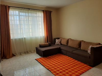 Photo for 2 bedroom flat, 2 beds, WiFi and parking, Close to JKIA  and SGR railway station
