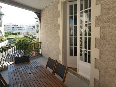 Photo for Very beautiful T2 44m2 with terrace, Biarritz full center, 1st floor facing south