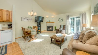 Vaulted Ceiling, Natural Lighting, Gas Fireplace, Spacious open room concept