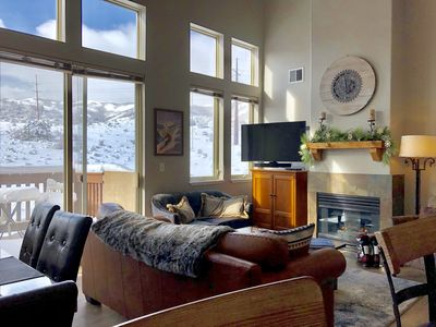 Photo for PARK CITY CONDO.  Bright, sunny with views and convenient location.