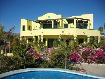 Photo for Oceanfront villa with infinity view pool, 1/2 mile north of LosBarriles sleeps 8