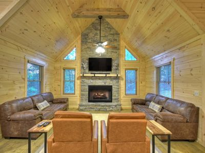 Photo for A Brand New Cabin Built with Rest and Relaxation in Mind! Pet-Friendly!