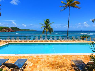 Photo for Ocean/pool front condo on Bolongo Bay; gorgeous views and amazing location!