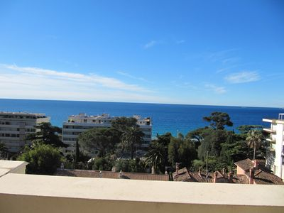 Photo for Air-conditioned 2-room apartment with garage, balcony and magnificent sea view
