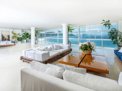 Photo for Rio035 - Beautiful and spacious seafront apartment in copacabana