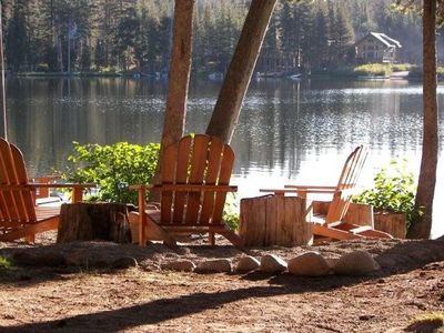 Photo for Waterfront Serenity -- Magical Serene Lakes Cabin Lets You Escape From it All!