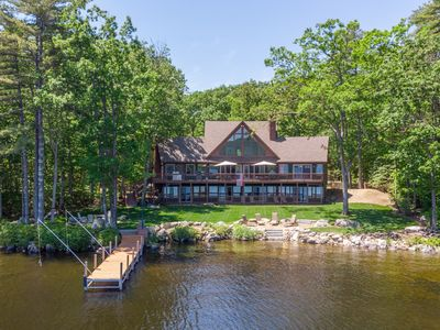 Photo for Luxury waterfront home with 40 ft. dock for lake getaway with comfort