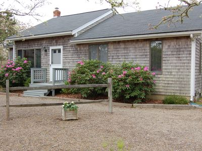 Photo for Charming Edgartown home, private, close to bike paths and beaches.