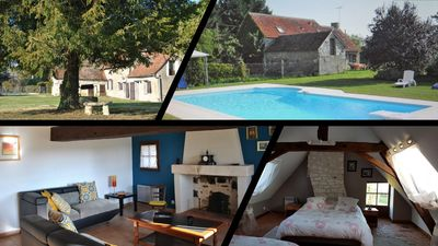 Photo for Charming cottage La Salamandre with swimming pool - Domaine des Pacauderies