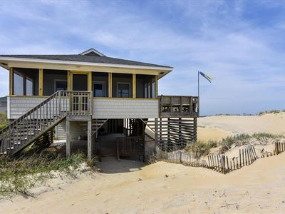 Photo for Beautiful, comfortable and well-equipped oceanfront cottage. Just remodeled in the Spring of 2019, everything is brand new! You cannot get any closer to the beach!
