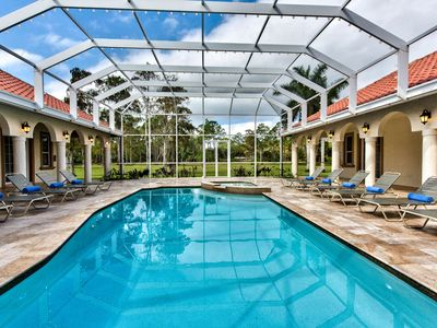 Photo for Waterfront Estate Home, Huge Private Resort Style Pool &Hot Tub-Sleeps up to 18!
