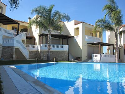 Photo for Fantastic seaview villa with olympic size swimming pool in Maleme, Chania