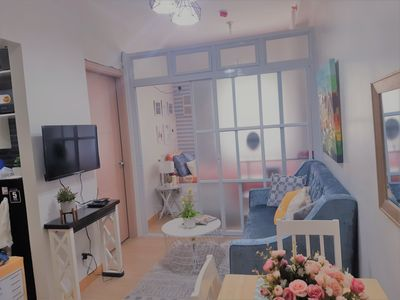 Photo for New 2bedroom Bright n Clean condo with Smrt TV, Wifi,  and Pool