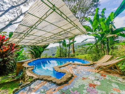 Photo for Colorful house with private pool, panoramic jungle views
