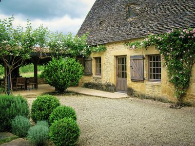 Photo for Fairy Tale French Farmhouse near Sarlat with private pool, orchards and gardens.