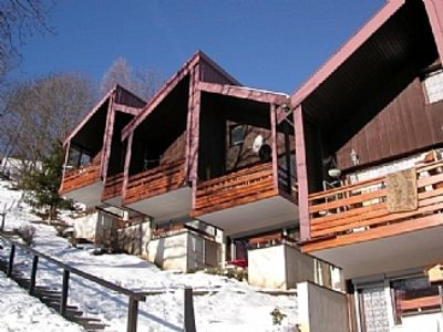 Photo for Modern Chalet with Full Mountain Views from South Facing Balcony