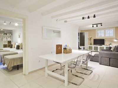 Photo for Spacious and centrally located apartment on Las Ramblas