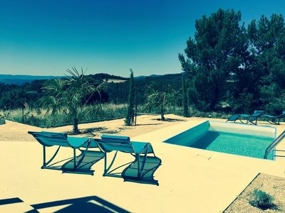 Photo for NATUR LODGE, bungalows and individual pool, natural site, exceptional view