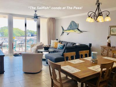 """Photo for NEW... """"The Sailfish"""" condo, at The Pass, over looking the bay Orange Beach, Al"""