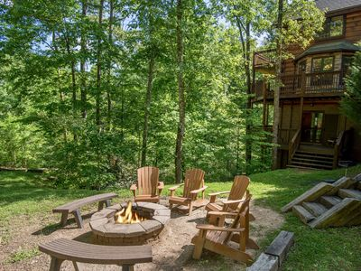 Photo for S'more Fun - Luxury Cabin, Game Rm, Fire Pit, Views!, WiFi, Gazebo, Nature Trail