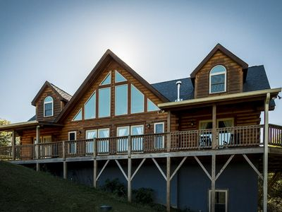 Photo for 1 Awesome Skyview - Spectacular log home with top of the line amenities!