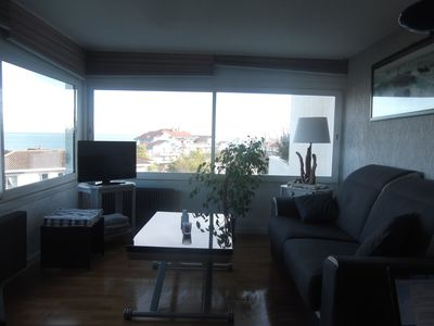 Photo for T2 47m2 Magnificent sea view Everything on foot: beach, shops, center, train station