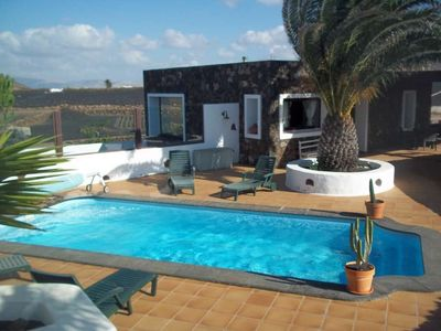 Photo for House in Tinajo with Internet, Pool, Garden, Balcony (970336)
