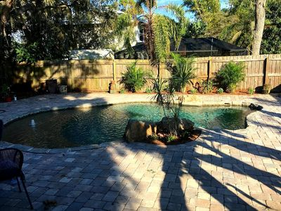 Photo for Serene and peaceful newly updated beach home with custom lagoon pool !!