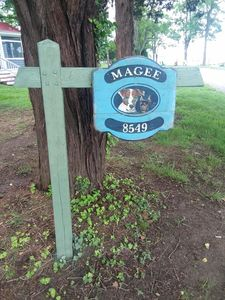 """""""Welcome to Magee's Cottage"""" Our address is 8549 Sewell Point Rd Wittman, Md."""