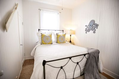 The 2nd Bedroom, with its nautical curb appeal, also has a luxurious queen bed.