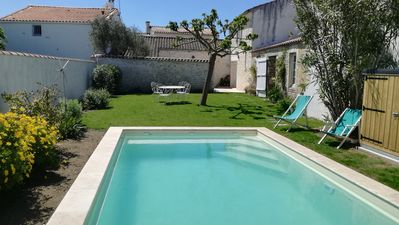 Photo for *** Charming village house with heated pool on the sunny Oléron Island ***