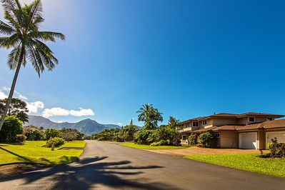 House Of Dreams sits in front of the Majestic Hihimanu Mountains...