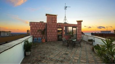 Photo for Penthouse with roof terrace and sea view - Residence Baia Blu - Fiordaliso