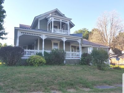 Photo for Old Victoria. Beautiful old home sits on a small incline overlooking the town